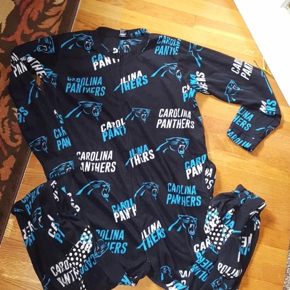 promo code 92773 d12f6 CAROLINA PANTHERS FOOTED PAJAMAS